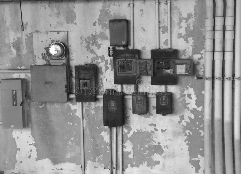 Electrical boxes stock images