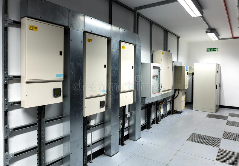 Electrical Breaker Boxes. Image of electrical breaker boxes royalty free stock photo