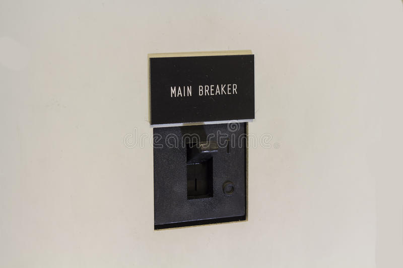 Electrical breaker switch cutoff royalty free stock photos