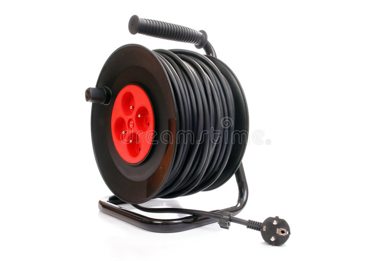 Download Electrical Cable Extension Reel Stock Photo - Image: 5083936