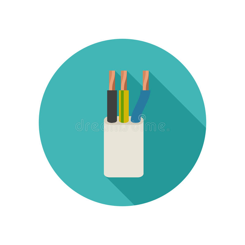 Electrical cable icon stock illustration