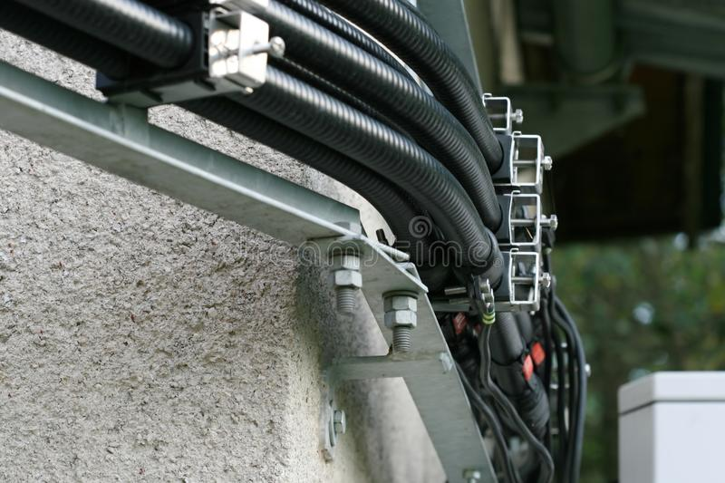 Electrical cables stock photo