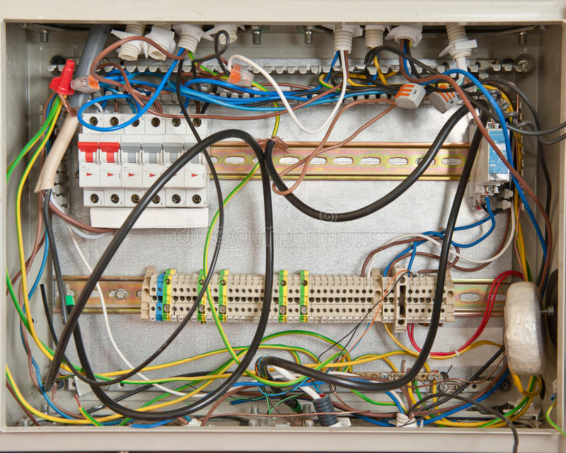 Electrical Caos Royalty Free Stock Photography