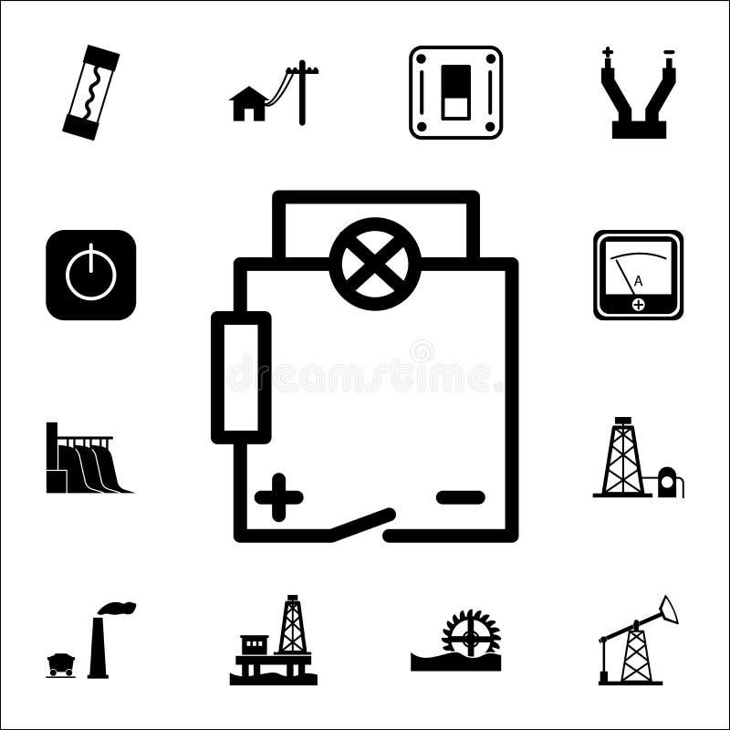 set of electronic circuit symbols stock vector