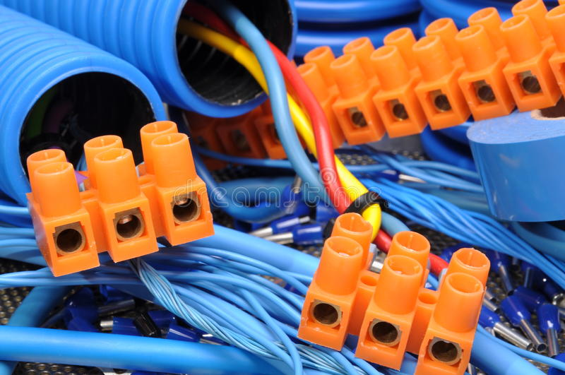 Electrical component kit royalty free stock photos