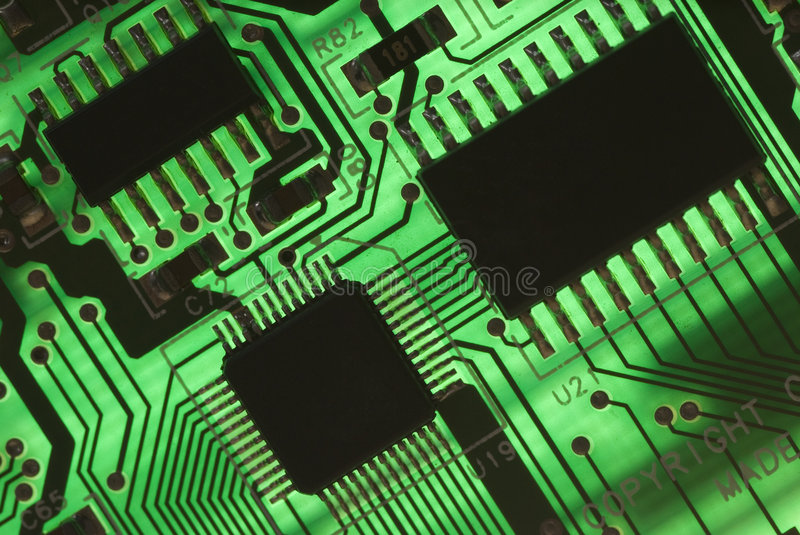 Electrical components stock image