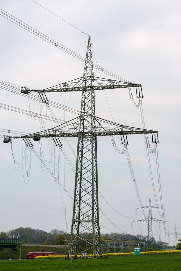 Electrical construction site stock photos