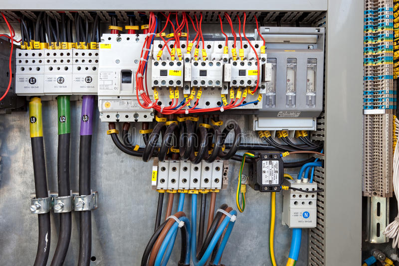 Electrical control panel stock photo. Image of background - 25013734