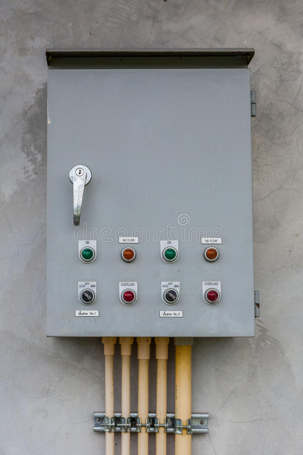 ELECTRICAL CONTROL PANEL stock photo. Image of equipment - 31698852