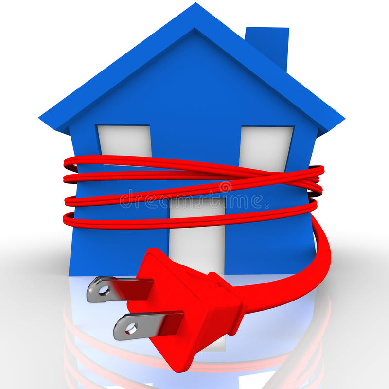 Download Electrical Cord Strangling House Home Power Energy Stock Illustration - Image: 27367213
