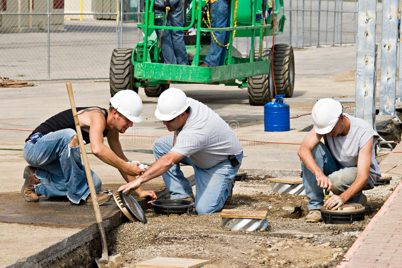Electrical Crew royalty free stock images