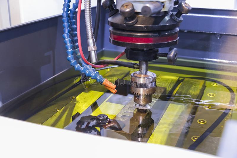 Electrical discharge machining ;spark machining royalty free stock photography