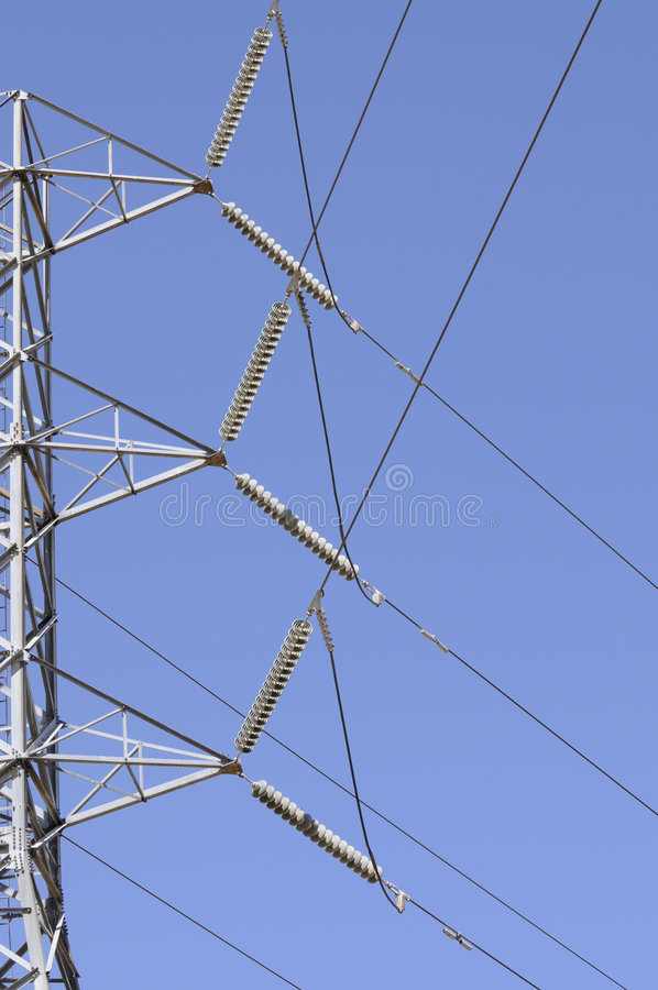 Electrical distribution lines royalty free stock photography