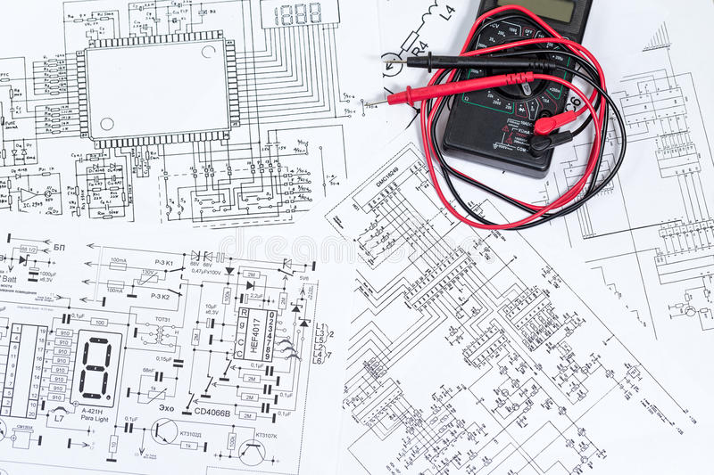 The electrical and electronic stock photo