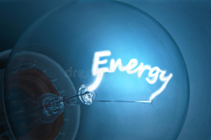 Electrical energy. stock image