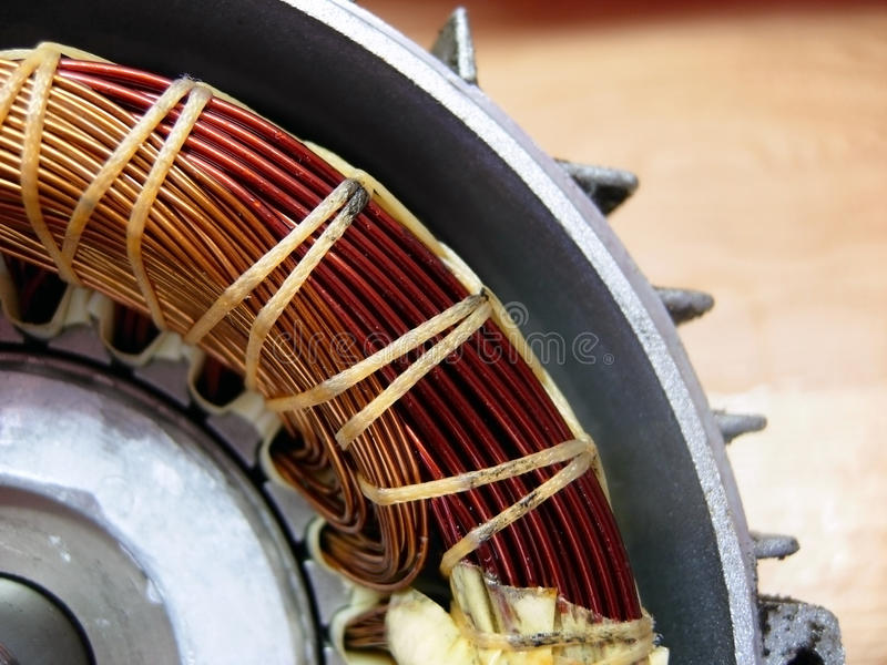 Electrical engine, inside royalty free stock image