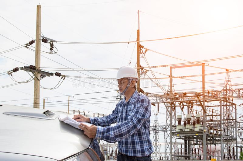 Electrical engineer working stock photos