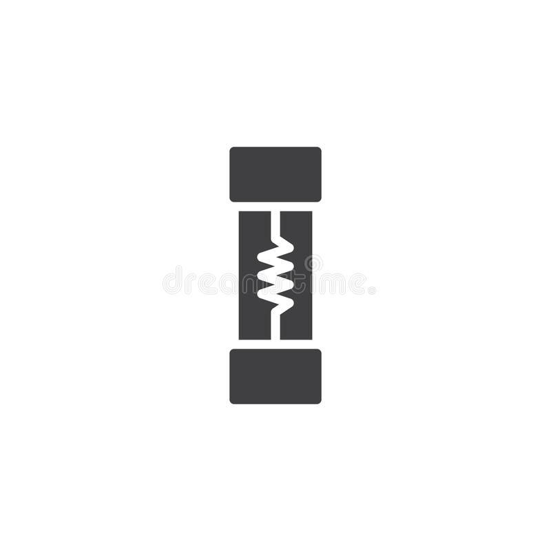Electrical Fuse Icon Vector Stock Vector - Illustration of logo ...