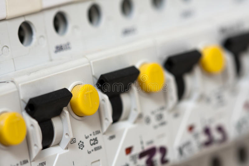 Download Electrical fuseboxes stock photo. Image of switch, fuse - 19706994