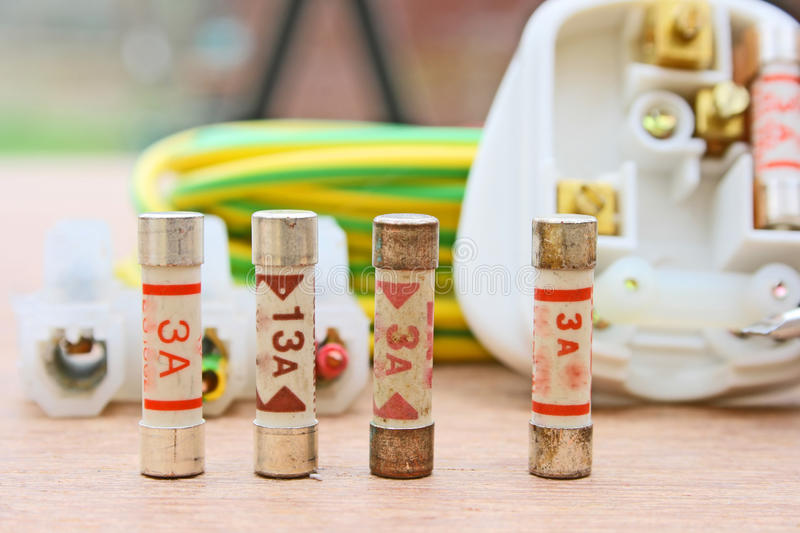 Electrical fuses royalty free stock images