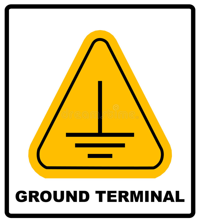 Electrical grounding sign. royalty free illustration