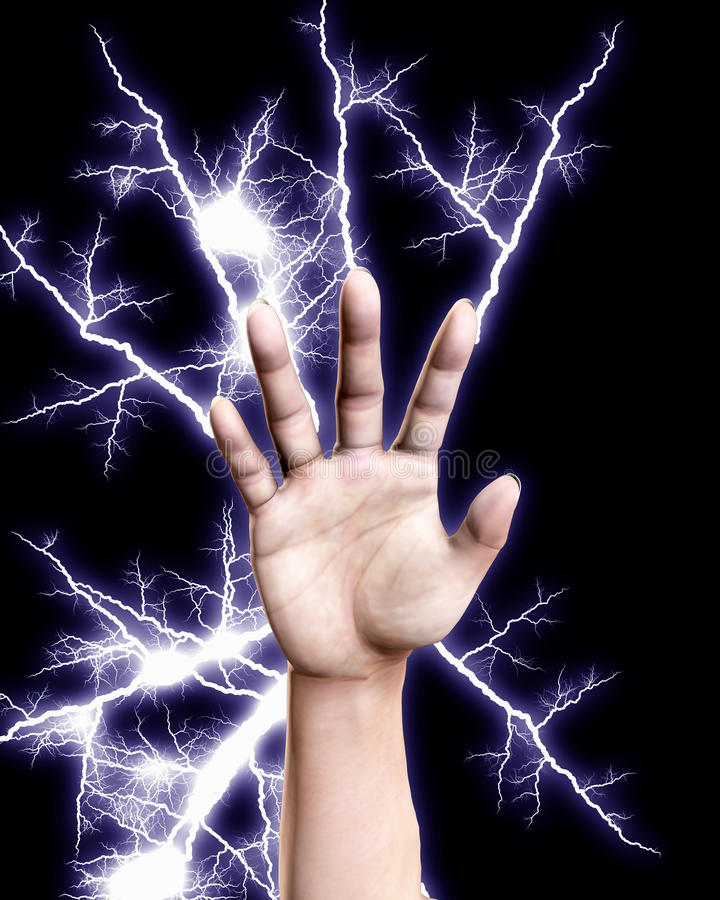 Download Electrical Hand stock illustration. Image of hand, discharge - 10817478