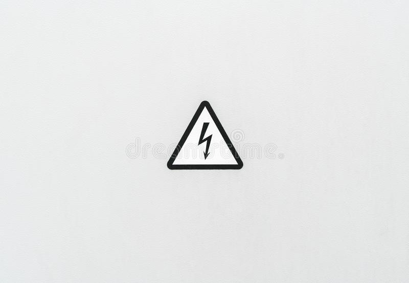 Electrical hazard high voltage sign stock image