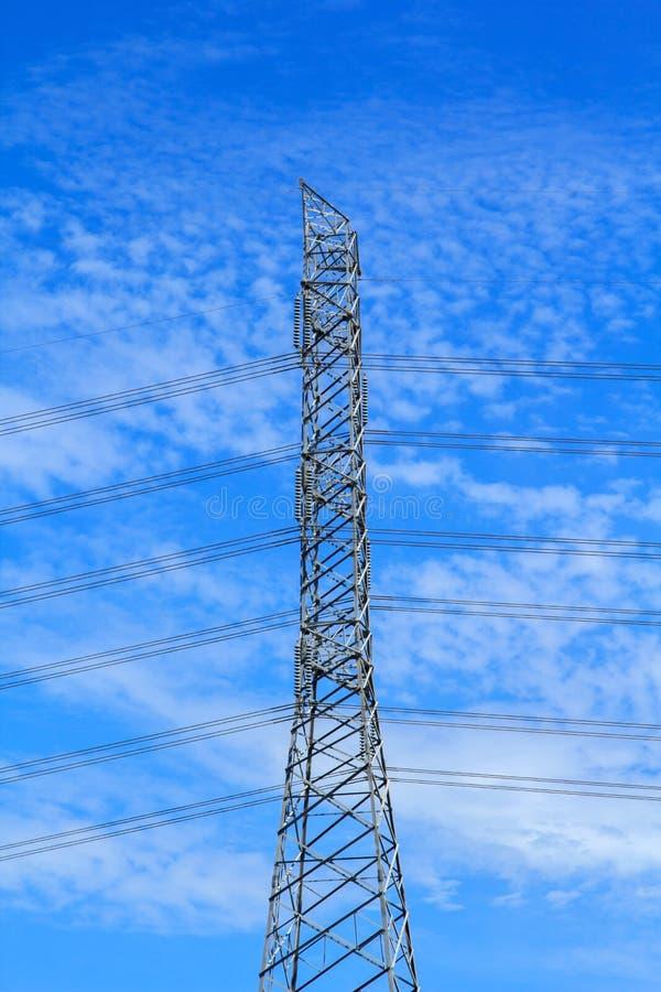 Electrical High Voltage Metal Pillar Stock Image Image