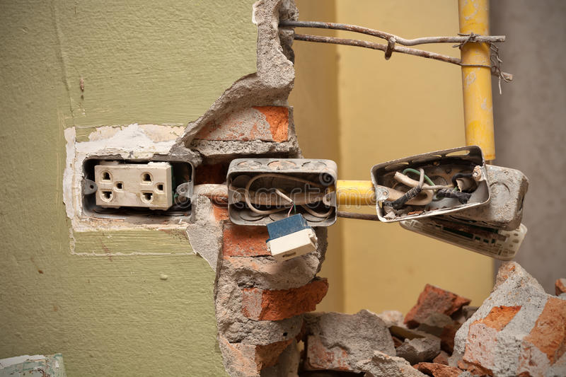 Electrical home repair stock photo