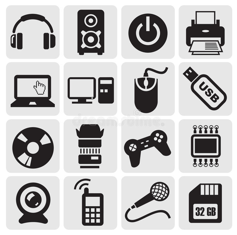Download Electrical Icons Set Stock Image - Image: 25824931