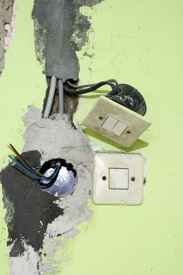 Electrical installation stock images