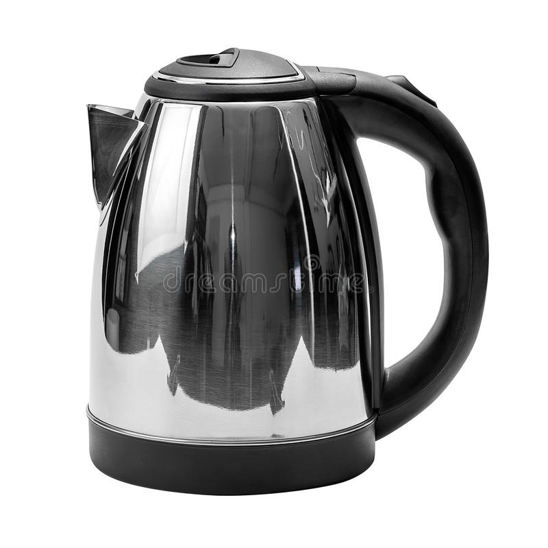 Electrical kettle isolated. On white background with clipping path royalty free stock photos