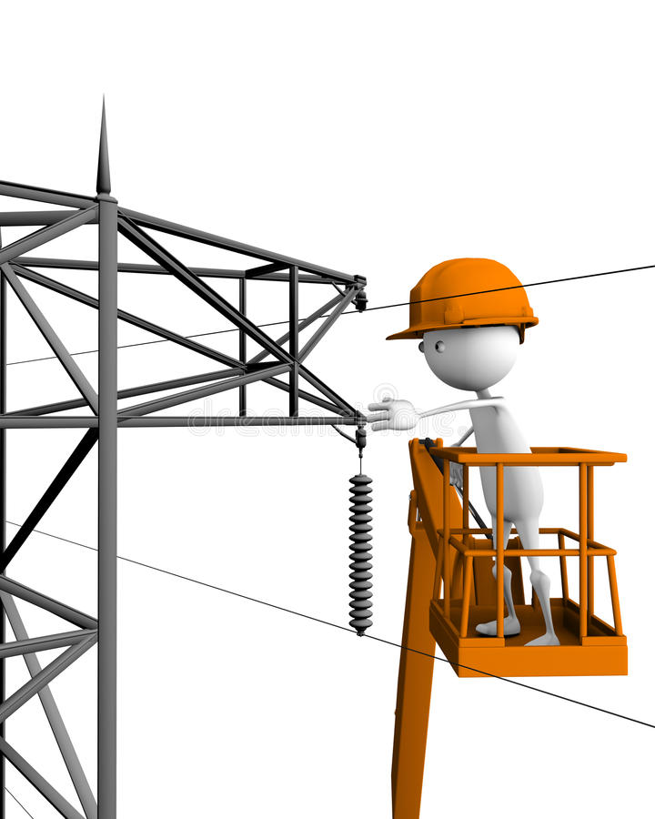 Download Electrical linemen stock illustration. Illustration of copper - 15485420