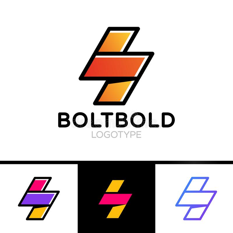 Electrical Logo Concept Lightning Bolt Minimal Simple Symbol