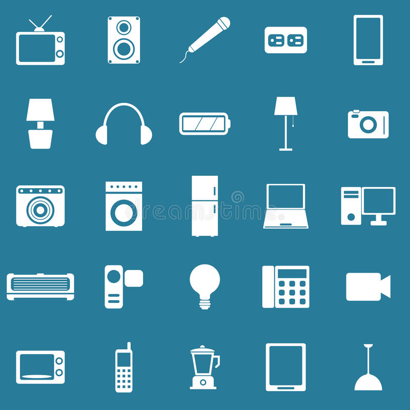 Download Electrical Machine Icons On Blue Background Stock Vector - Image: 34440366
