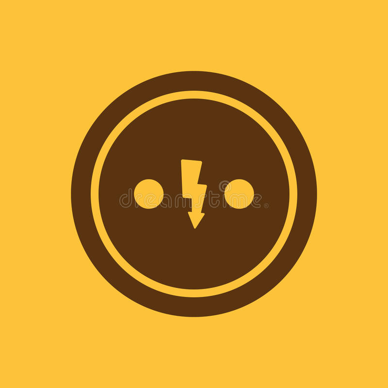 The Electrical Outlet Icon Socket Symbol Flat Stock Illustration
