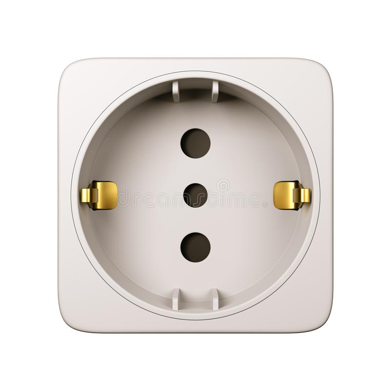 Electrical Outlet Isolated on White Background royalty free illustration