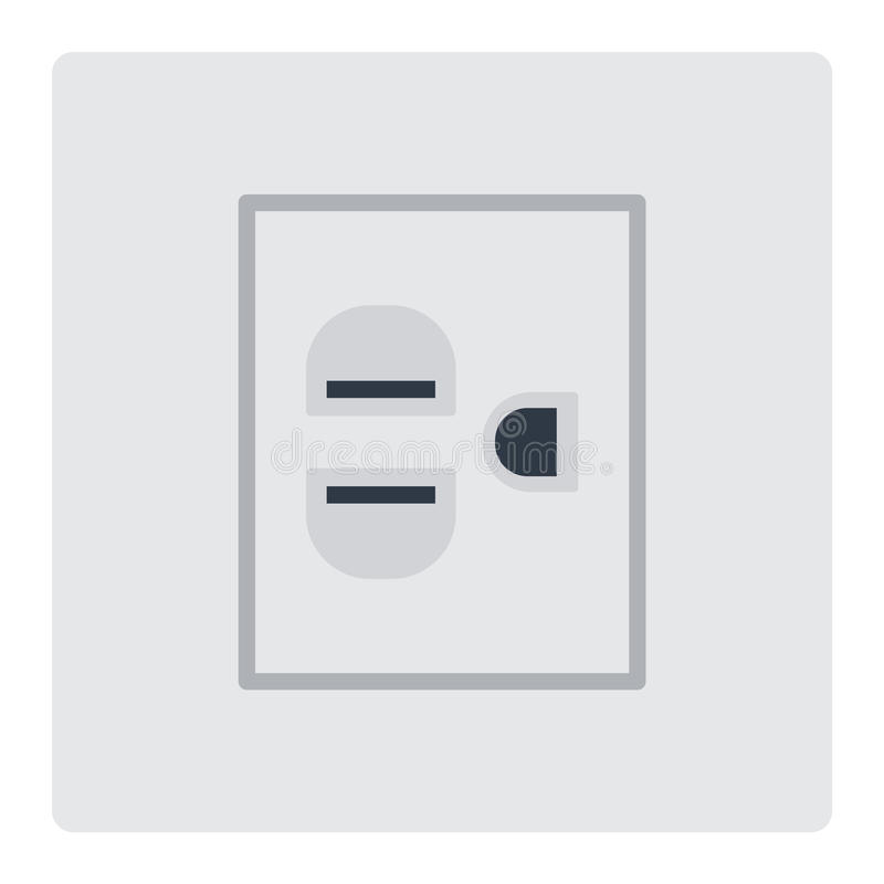 Electrical Outlet Plug Vector Illustration. Stock Vector ...