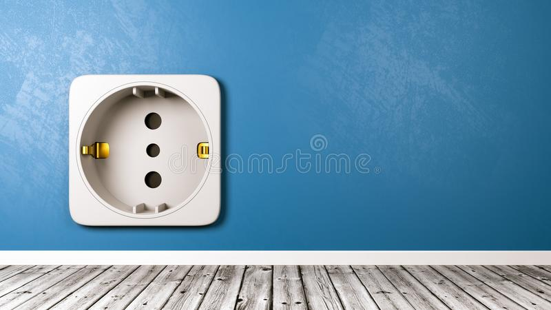 Electrical Outlet in the Room Close-up stock illustration