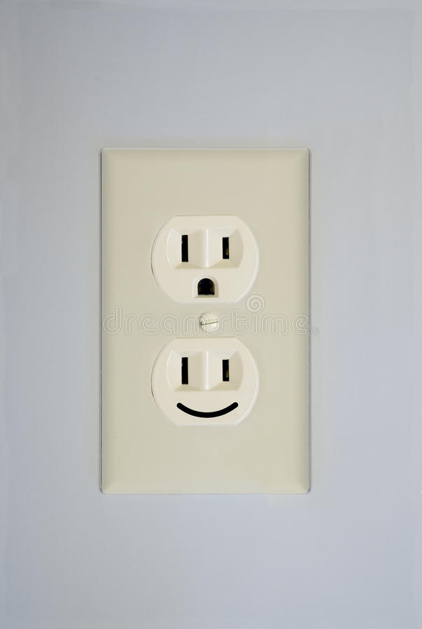 Electrical Outlet Smiley Face Stock Photo - Image of face ...