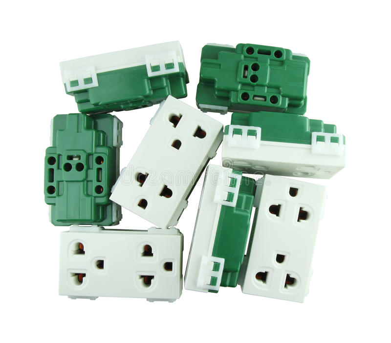 Download Electrical Outlet (socket Plug) On White Background Stock Photo - Image: 32117338