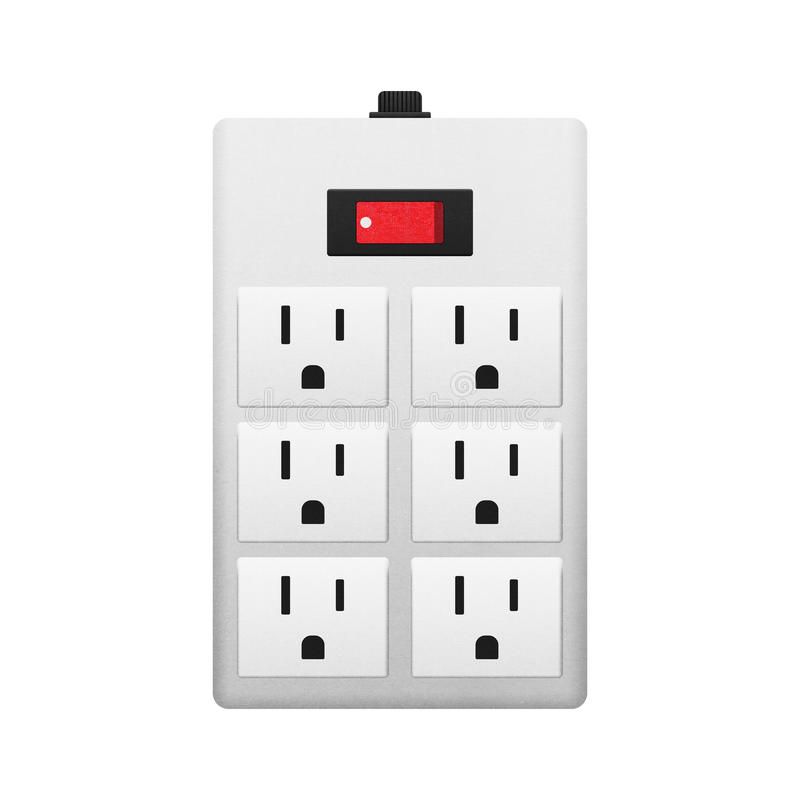 Electrical Outlet With Switch Stock Illustration - Illustration of ...