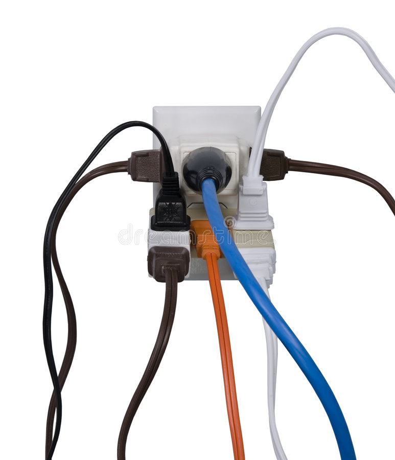 Electrical overload stock photo