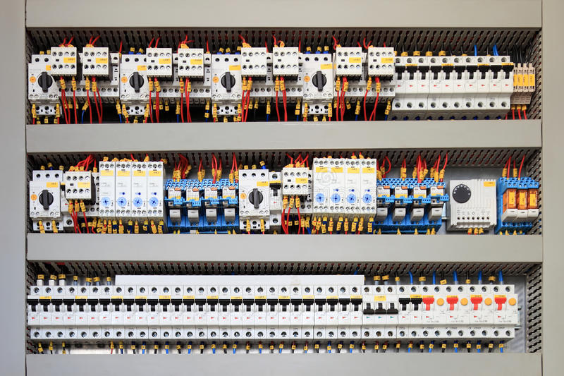 Electrical panel royalty free stock photos