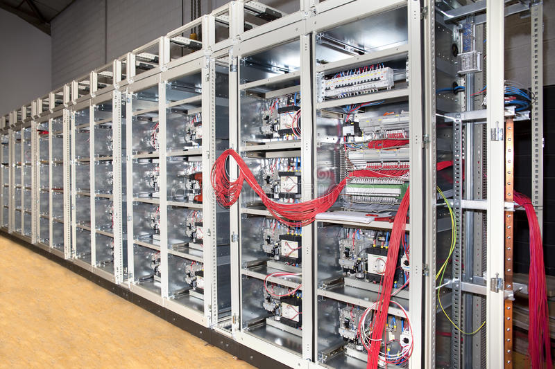 Electrical panel board construction royalty free stock image