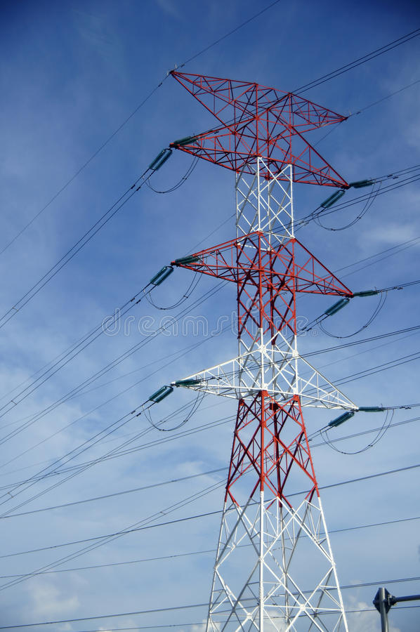 Electrical Pole royalty free stock photo