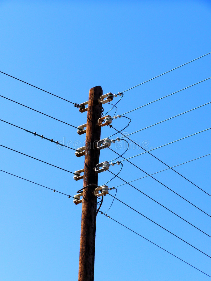 Electrical pole stock photography