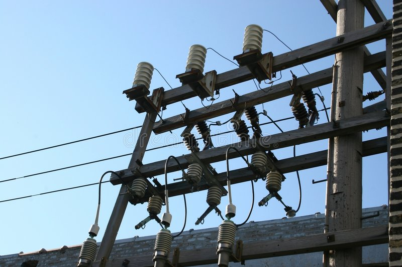 Download Electrical Power stock image. Image of cables, posts, insulators - 199447