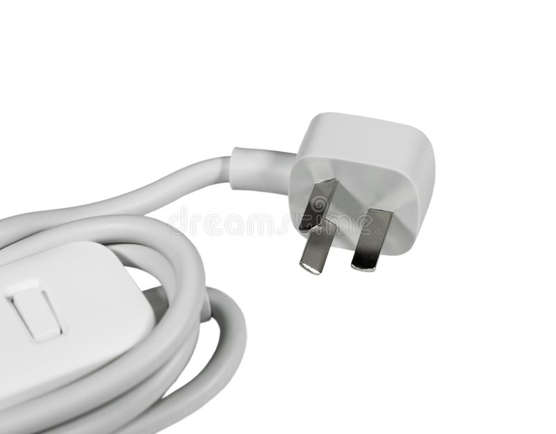 Electrical power cable with chinese plug stock photo