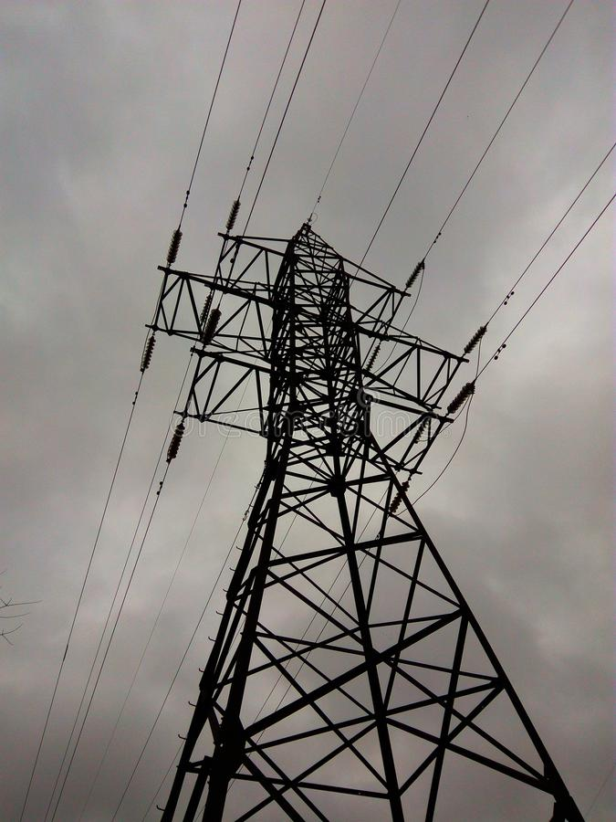 Electrical power lines support. royalty free stock images